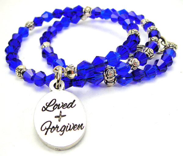 Loved And Forgiven Catalog Bicone Crystal Wrap - Sapphire