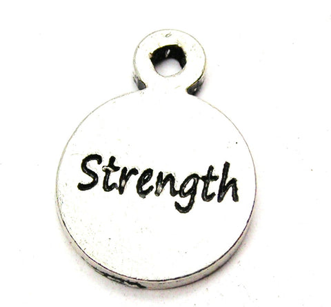 Strength Circle Genuine American Pewter Charm