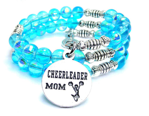 Cheerleader Mom Sea Siren Ocean Glass Wrap Bracelet