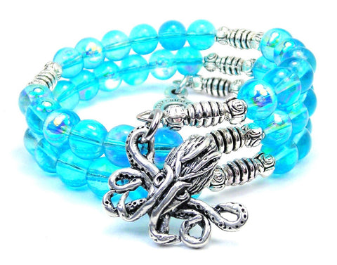 Cthulu Sea Siren Ocean Glass Wrap Bracelet