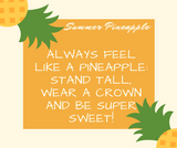Summer Pineapple Capped Crystal Bracelet