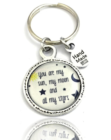 You Are My Sun My Moon And All My Stars Framed Resin Key Chain
