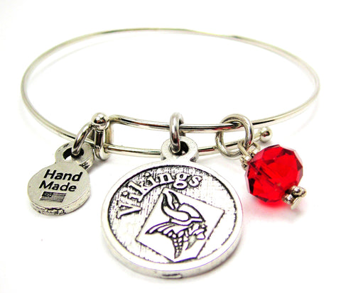 Viking Mascot Bangle Bracelet