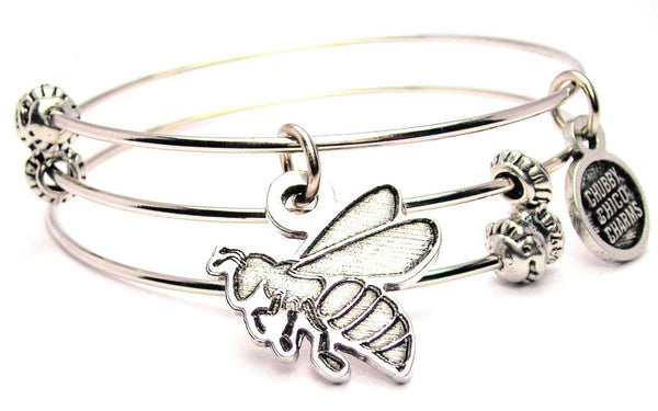 Hornets Bees Mascot Triple Style Expandable Bangle Bracelet