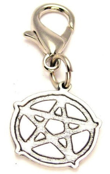 Engraved Style Pentacle Zipper Pull