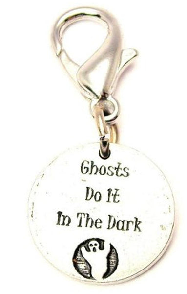 Ghosts Do It In The Dark Zipper Pull