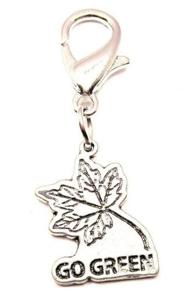 Go Green With Leaf Zipper Pull