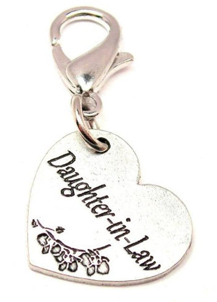 Daughter In Law Heart Zipper Pull