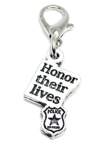Honor Their Lives With Badge Zipper Pull