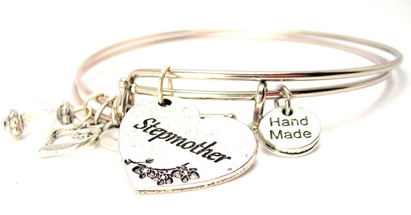 stepmother bracelet, stepmother jewelry, mother jewelry, stepparent bracelet, stepparent jewelry, family jewelry