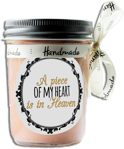 A Piece Of My Heart Is In Heaven Soy Candle