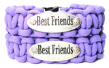 Double Set Of 2 Best Friends 550 Military Spec Paracord Bracelets