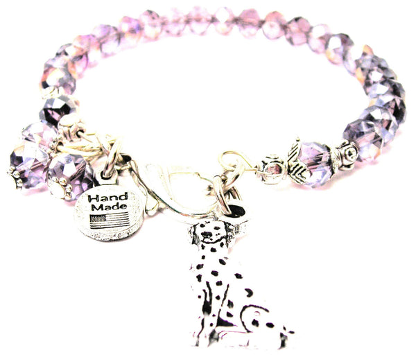 Bangle Sitting Dalmatian Splash Of Color Crystal Bracelet