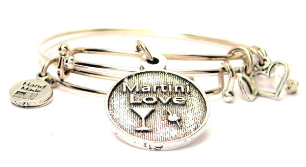 Martini Love Expandable Bangle Bracelet Set