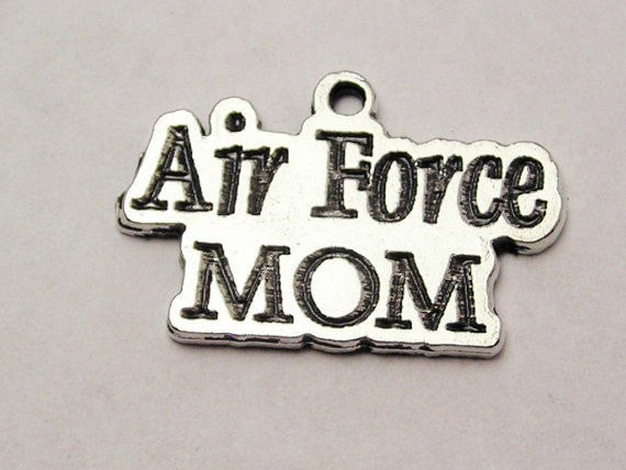 Air Force Mom Genuine American Pewter Charm