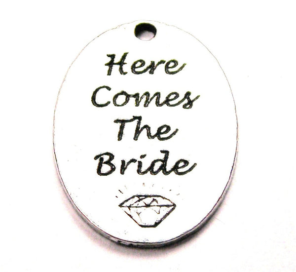 Here Comes The Bride Genuine American Pewter Charm