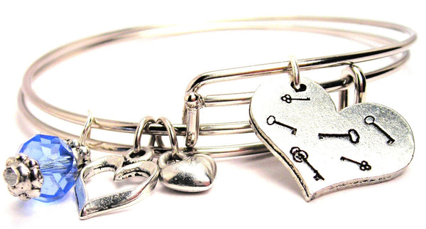 key to my heart bracelet, key to my heart bangles, key to my heart jewelry, love bracelet, love bangles