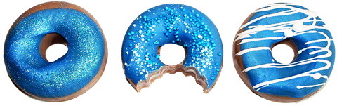 Donut Scented Soap Set Of 3 Blue