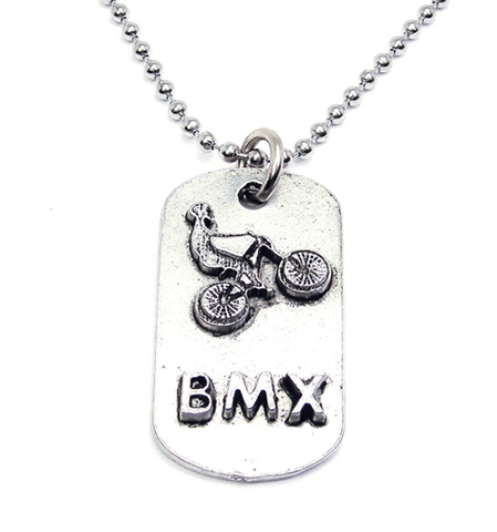 BMX Bike Catalog Dog Tag Necklace