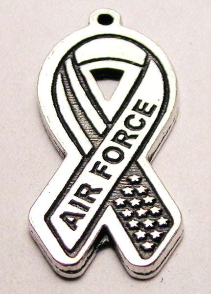 Air Force Awareness Ribbon Genuine American Pewter Charm