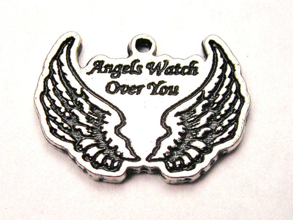 Angels Watch Over You Genuine American Pewter Charm