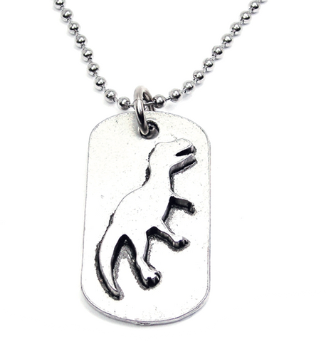 Dinosaur Catalog Dog Tag Necklace