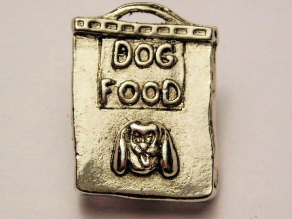 Dog Food Bag Genuine American Pewter Charm