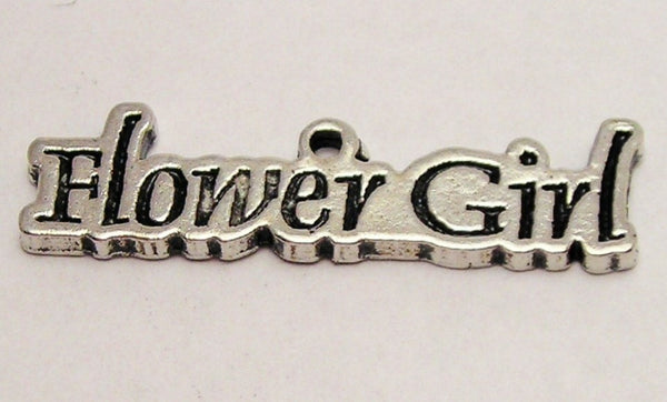 Flower Girl Genuine American Pewter Charm