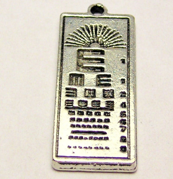 Eye Dr. Chart Genuine American Pewter Charm