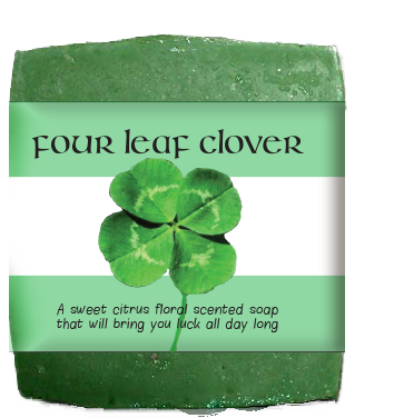 Four Leaf Clover St. Patty's Day Soap