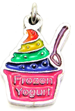Rainbow Colored Frozen Yogurt With Crystals Bangle