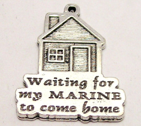 Waiting For My Marine To Come Home Genuine American Pewter Charm