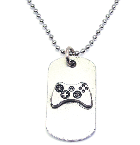 Gamer Catalog Dog Tag Necklace