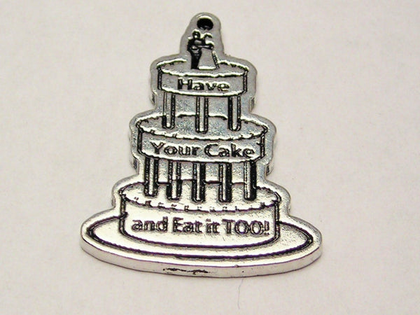 Have Your Cake And Eat It Too Genuine American Pewter Charm