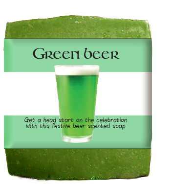 Green Beer  St. Patty's Day Soap