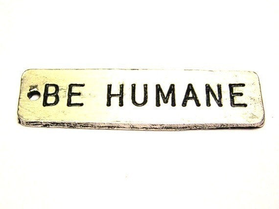 Be Humane Genuine American Pewter Charm