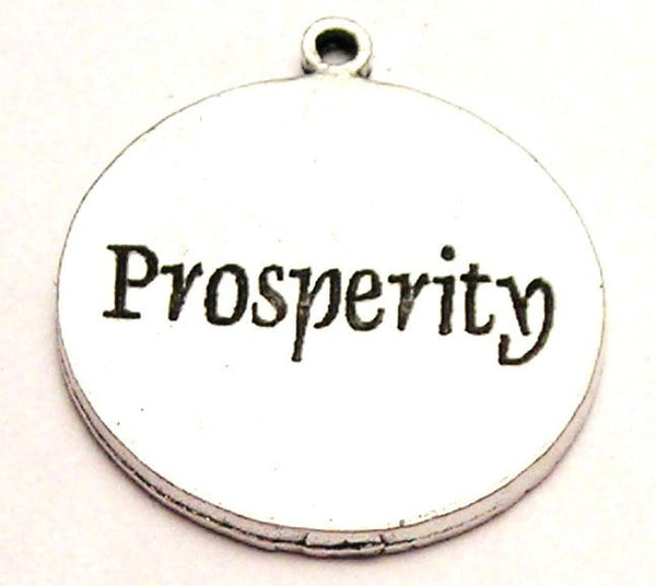 Prosperity Circle Genuine American Pewter Charm