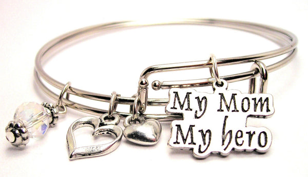 my mom my hero bracelet, my mom my hero bangles, mom bracelet, mother bracelet