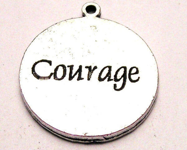 Courage Circle Genuine American Pewter Charm