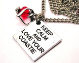Keep Calm And Love Your Coastie Necklace with Small Heart