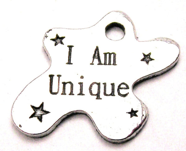 I Am Unique Genuine American Pewter Charm