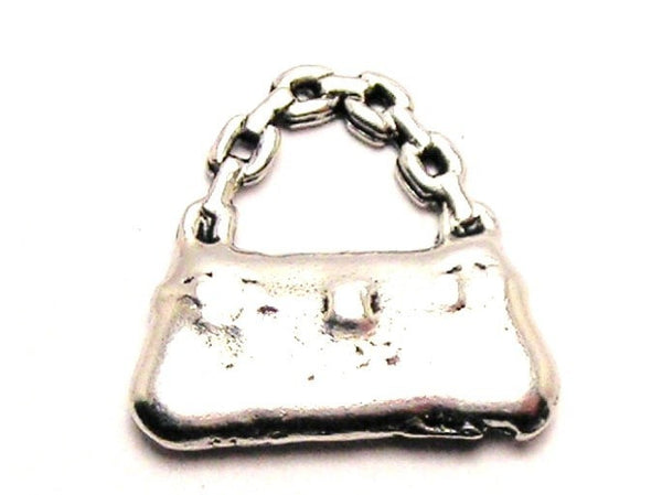 Chain Strap Purse Genuine American Pewter Charm