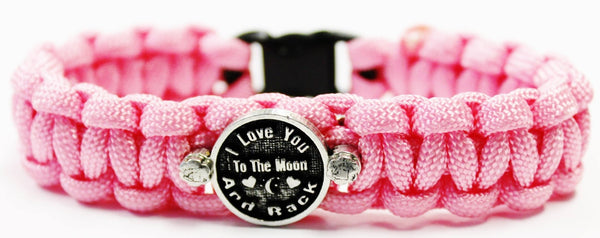 Circle Connector I Love You To The Moon And Back 550 Military Spec Paracord Bracelet