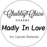 Madly In Love Rose Scented Hand Made Cupcake Bath Bomb