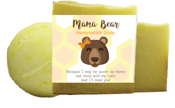 Mama Bear Honeysuckle Scented Bath Gift Set