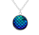 Mermaid Tail  Scales Charm Necklace
