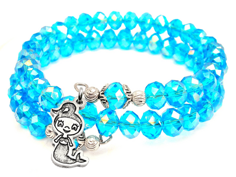 Little Mermaid Crystal Wrap Bracelet