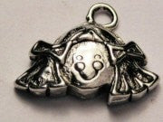 Girl With Pigtails Genuine American Pewter Charm