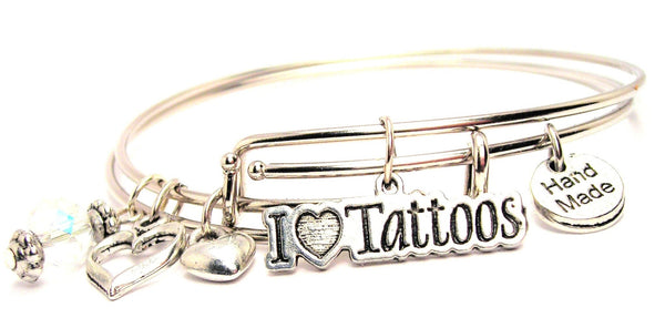 I love tattoos bracelet, I love tattoos bangles, tattoo bracelet, tattoo bangles