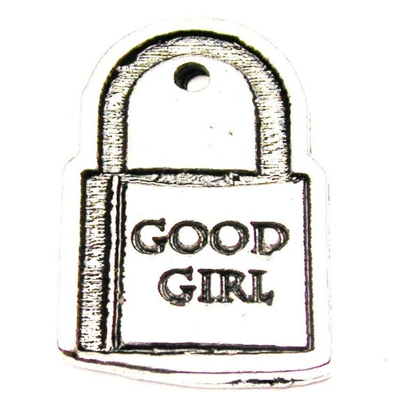 Good Girl Love Lock Genuine American Pewter Charm